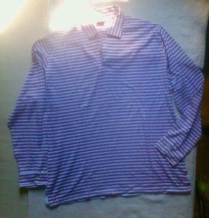 "#sale: trend#flieder ""Borelli"" Napoli Langarmpolo shirt in XL, weiß/Lavendel"