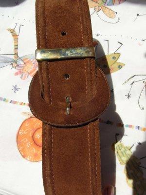 sale: Vintage Veloursleder Gürtel 'high waist' s-m