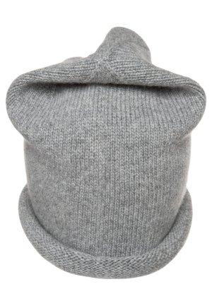 SALE Wollmütze Strick Mütze Beanie grau hochwertige Strickmütze Wolle Handarbeit