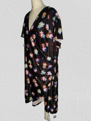 Yumi Sukienka z dżerseju czarny-niebiesko-fioletowy