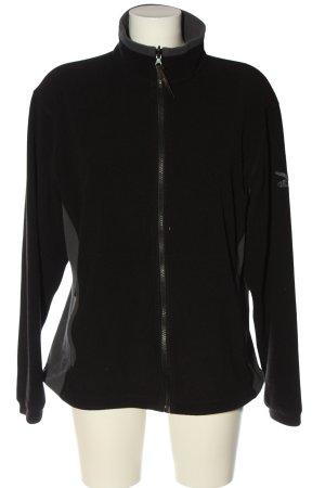 Salewa Fleece Jackets black-light grey themed print casual look