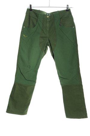 Salewa Spodnie z wysokim stanem zielony-khaki W stylu casual