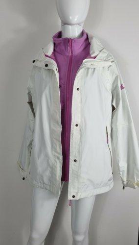 Salewa Bomber Jacket white-pink polyester