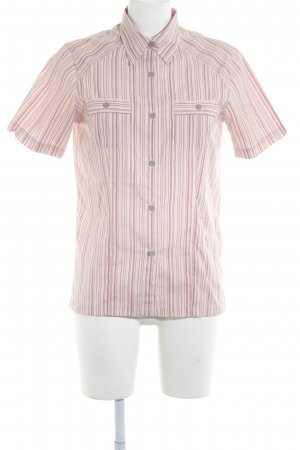 Salewa Short Sleeved Blouse striped pattern casual look