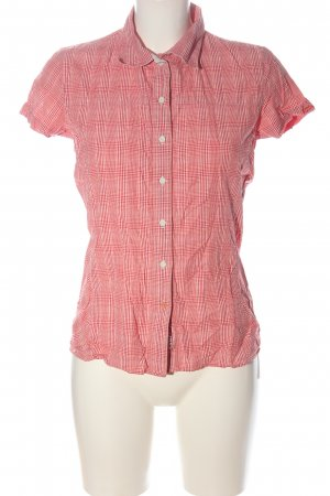 Salewa Short Sleeve Shirt red-light orange check pattern casual look