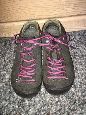 Salewa Zapatos brogue gris-rosa