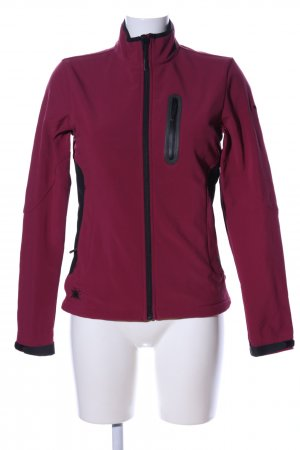 Salewa Softshelljacke rot-schwarz Casual-Look
