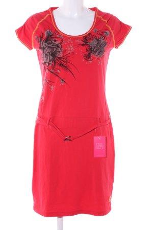 Salewa Sweatkleid rot Blumenmuster schlichter Stil