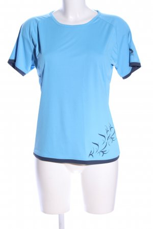 Salewa T-Shirt blau Blumenmuster Casual-Look