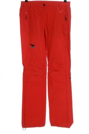 Salewa Pantalone termico rosso stile casual