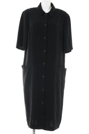 Sallie Sahne Kurzarmkleid schwarz klassischer Stil