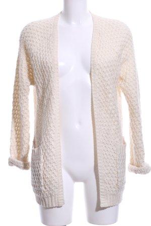 Sally&Circle Szydełkowany sweter kremowy Warkoczowy wzór W stylu biznesowym