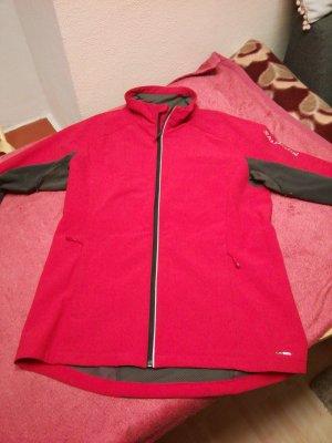 Salomon Giacca sport grigio-rosso
