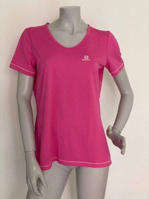 Salomon Sports Shirt pink-magenta polyester