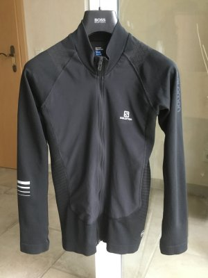 Salomon Sports Jacket black-silver-colored polyester