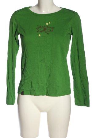 Salomon Longsleeve green themed print casual look