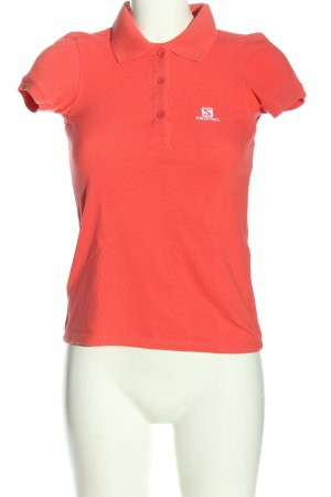 Salomon Camiseta tipo polo rojo look casual