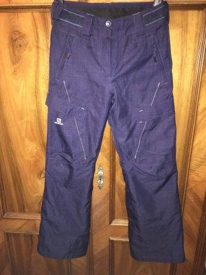 Salomon Snow Pants dark violet