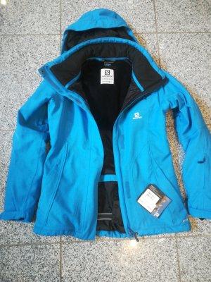 Salomon Skijacke Damen, S, blau