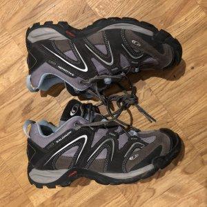 Salomon Trekking Schuhe, hellblau grau, Größe 39 1/3