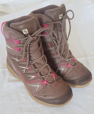 Salomon Aanrijg laarzen lichtbruin
