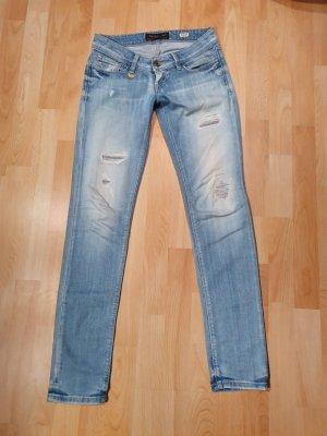 Salsa Jeans Jeans taille basse bleu azur