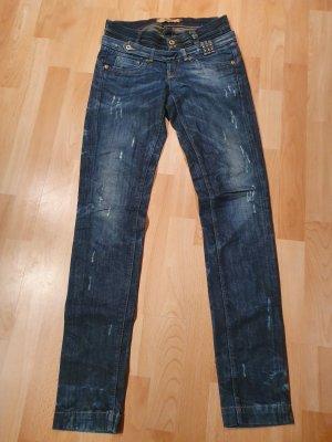 Salsa Jeans Jeans taille basse bleu