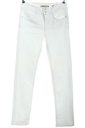 Salsa Hoge taille broek wit casual uitstraling