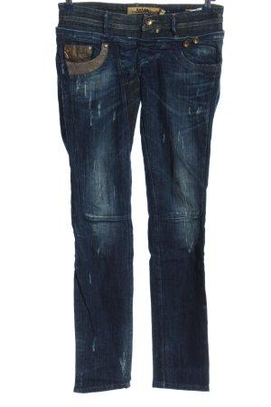Salsa Jeans Straight-Leg Jeans blau Casual-Look