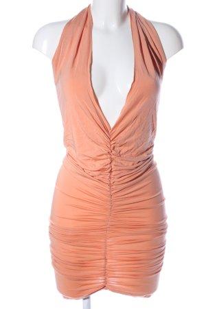 Salsa One Shoulder Dress light orange party style