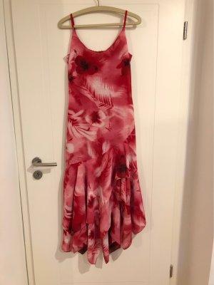 Cheer Asymetryczna sukienka malina