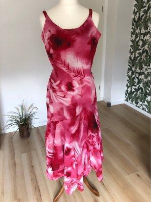 Salsa Tanz Abend Kleid Gr 36 rot blumig