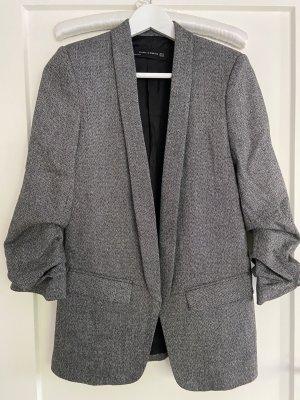 Zara Blazer in lana nero-grigio