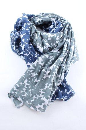 Salto Écharpe d'été blanc-bleu motif abstrait style décontracté