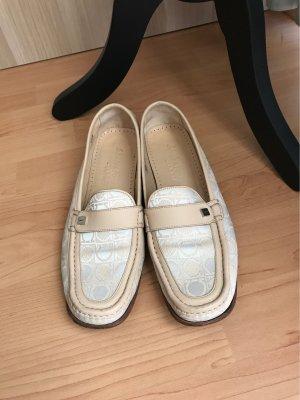 Ferragamo Sailing Shoes cream