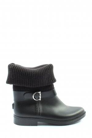 Salvatore ferragamo Wellies black-brown casual look
