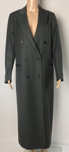 Salvatore Ferragamo, Mantel, Petrol-Oliv, 38 (It. 42), Virgin Wool, neuwertig, € 1.900,-