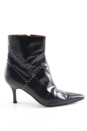 Salvatore ferragamo Reißverschluss-Stiefeletten schwarz-weiß Casual-Look