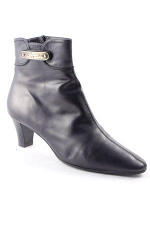 Salvatore ferragamo Reißverschluss-Stiefeletten schwarz klassischer Stil