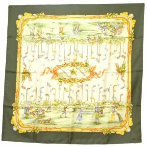 Salvatore ferragamo Gebreide sjaal groen Zijde