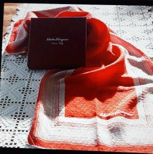 Salvatore ferragamo Foulard en soie rouge-blanc soie