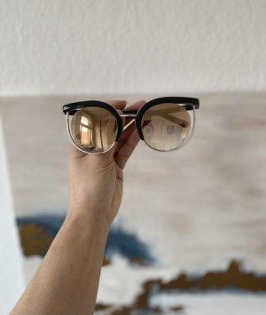 Salvatore ferragamo Butterfly Glasses dark brown-gold-colored