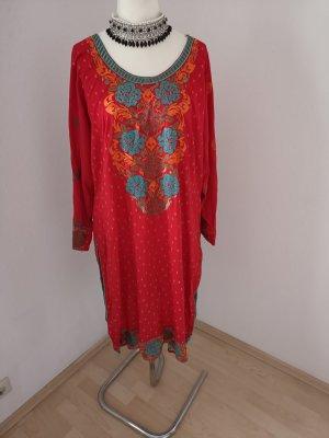 Vestido de lana rojo