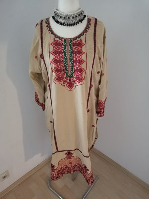 Vestido de lana crema