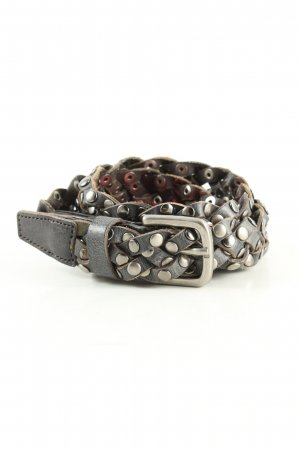Sam Brown Braided Belt brown-silver-colored wet-look