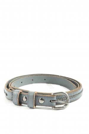 Sam Brown Cintura di pelle grigio chiaro stile casual