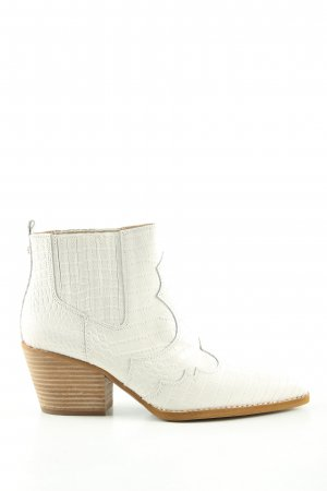Sam edelman Ankle Boots weiß Animalmuster Casual-Look
