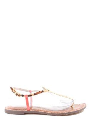 Sam edelman Dianette Sandals cream-brown animal pattern casual look