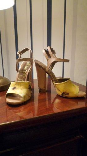 Sam Edelman High Heel Sandalette camel florales Muster Gr. 35 NEU