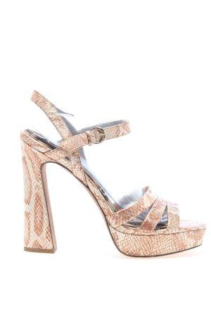 Sam edelman High Heel Sandaletten creme Animalmuster Elegant